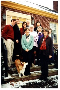 The MHC staff, gathered on the front steps of our offices in 2002.