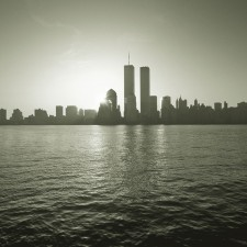NYC skyline with World Trade Center Towers