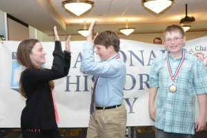 Students celebrating their win at History Day