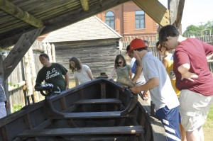 Students at History Camp, Old Fort Western