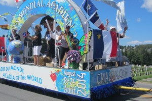 Float at the Acadian Festival