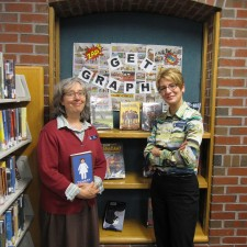 Louise and Celeste at the Scarborough Library