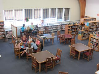 Hugh Falmouth middle school library